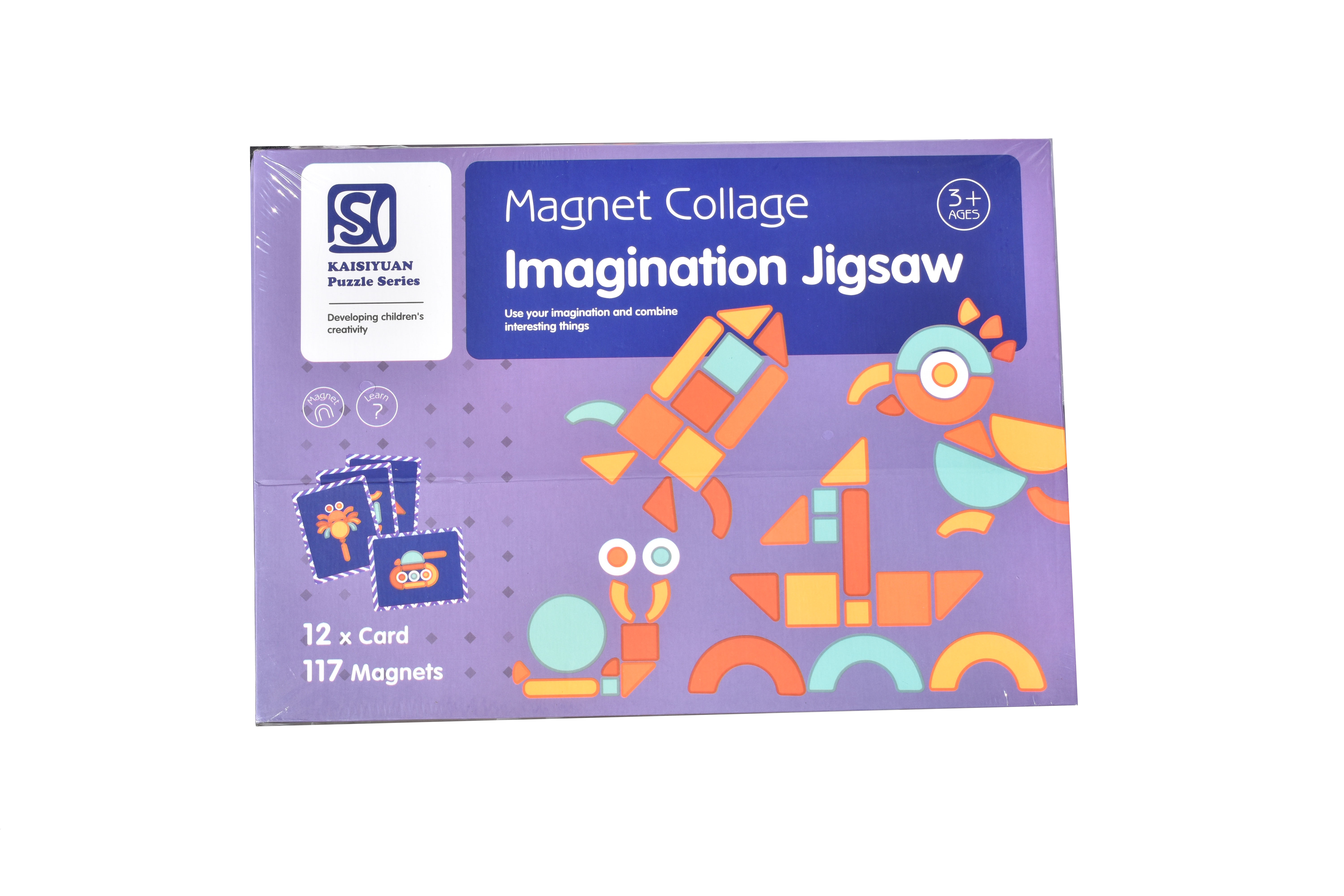 Puzzle magnetic imaginare forme geometrice