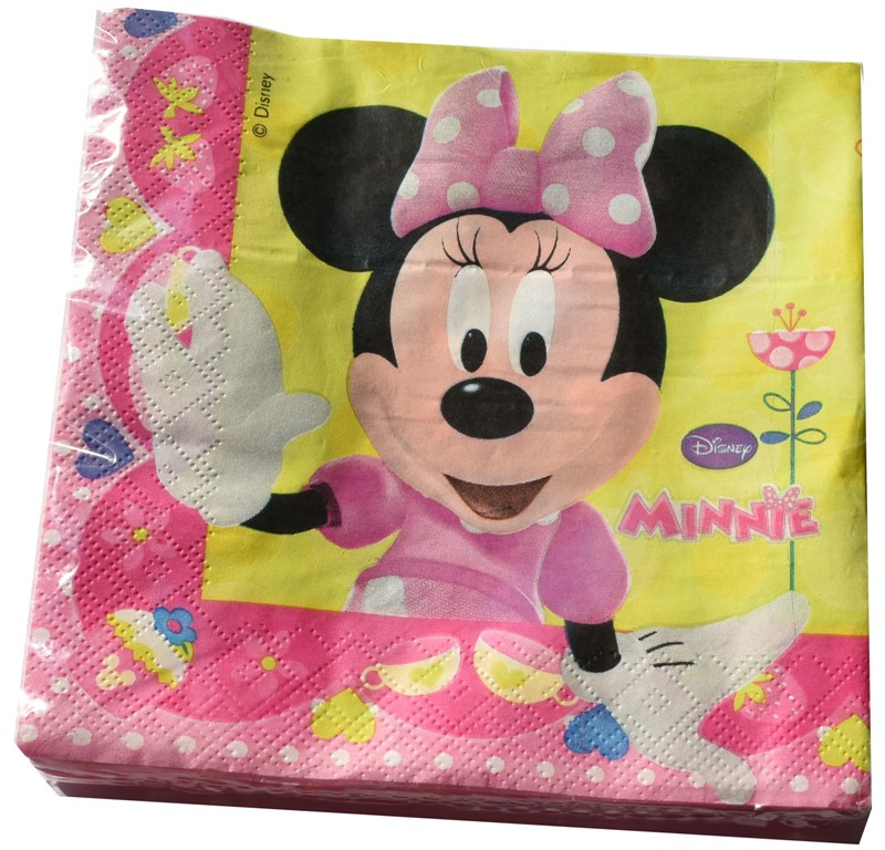 Set 20 servetele 33x33cm Disney MINNIE MOUSE roz