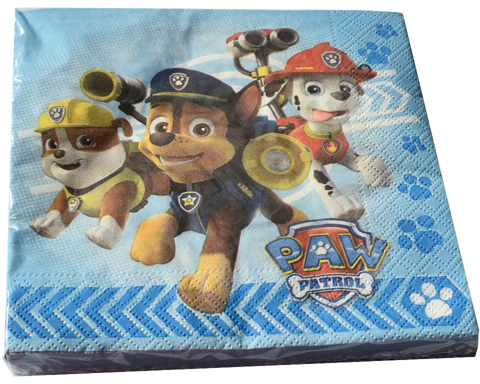 Set 20 servetele 33x33cm Disney Paw Patrol (Patrula Catelusilor)