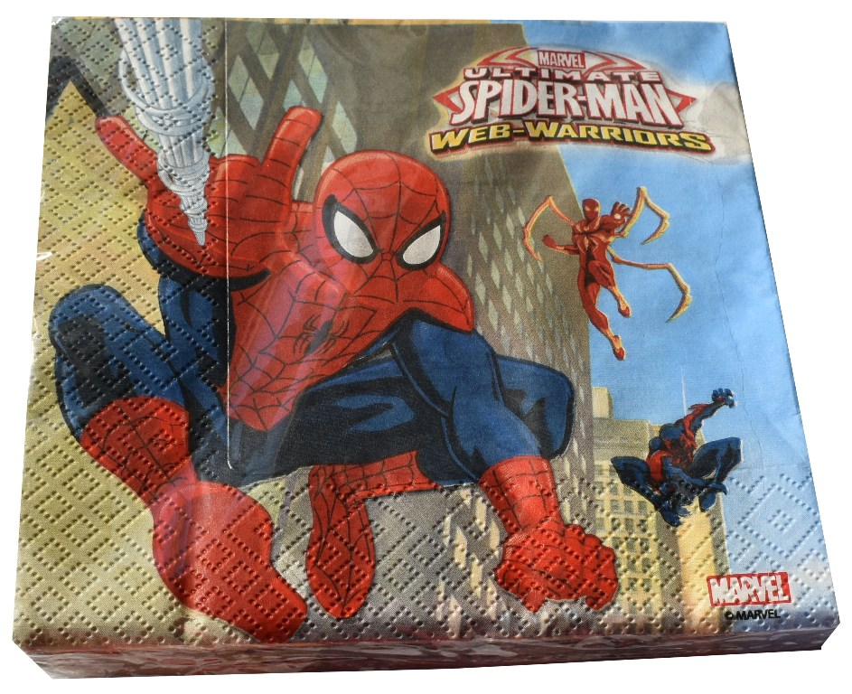 Set 20 servetele 33x33cm Disney Spiderman