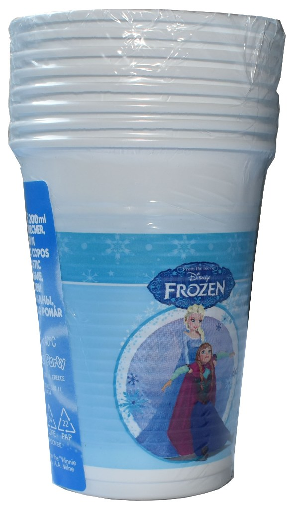 Set 8 pahare plastic de 200ml Disney Frozen 1