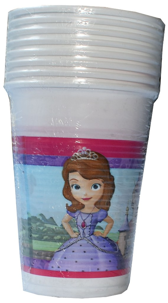 Set 8 pahare plastic de 200ml Disney Sofia
