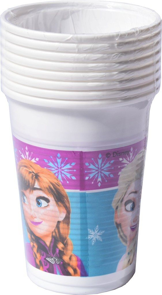 Set 8 pahare plastic de 200ml Disney Frozen