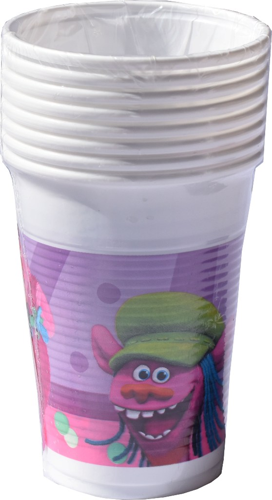 Set 8 pahare plastic de 200ml Disney Troli