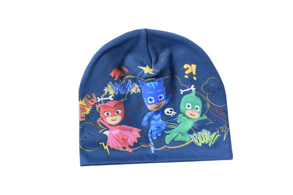 Caciula Pj Mask eroi in pijamale albastra
