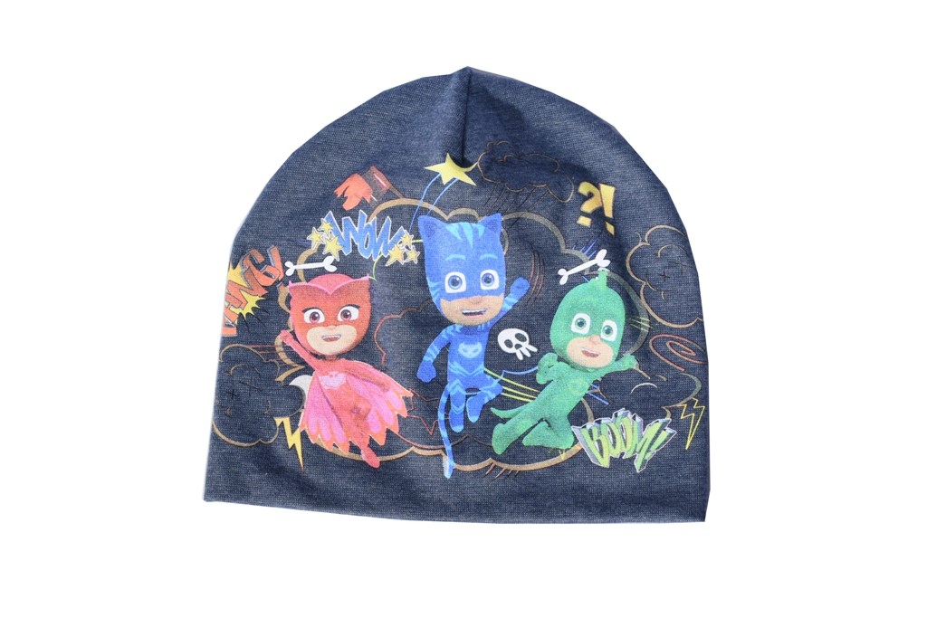 Caciula Pj Mask eroi in pijamale bleumarin
