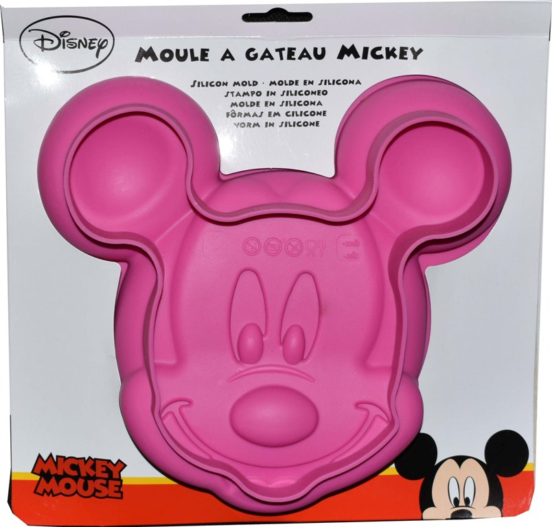 Forma silicon tort Minnie Mouse roz