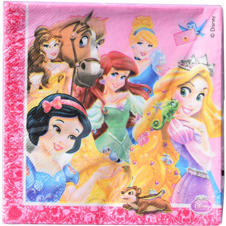 Set 20 servetele 33x33cm Disney PRINTESE roz