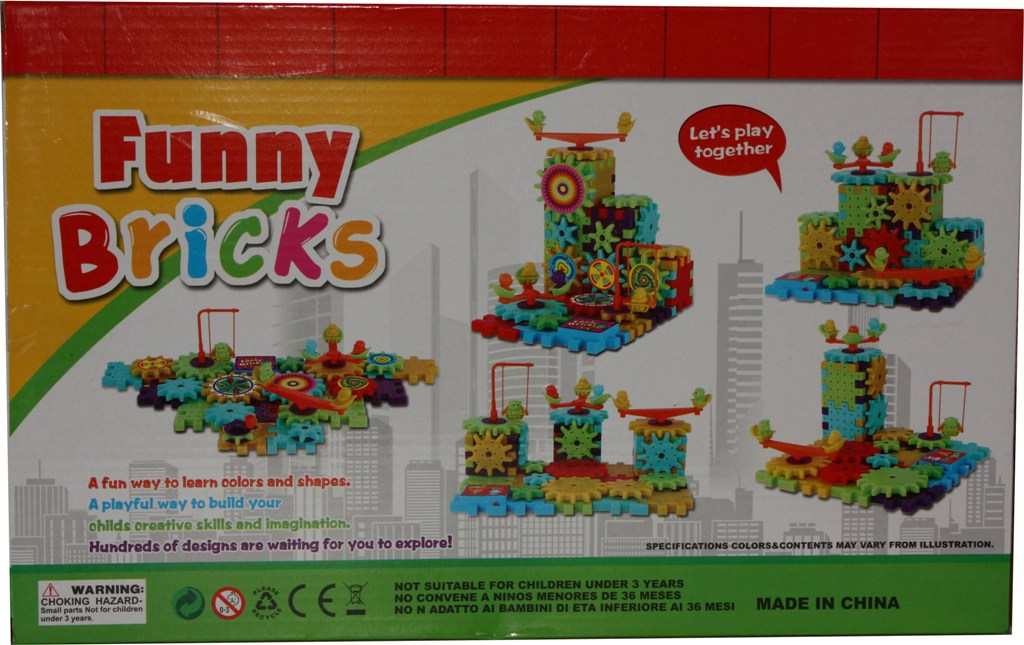 Set creativ si de imaginatie rotite funny bricks