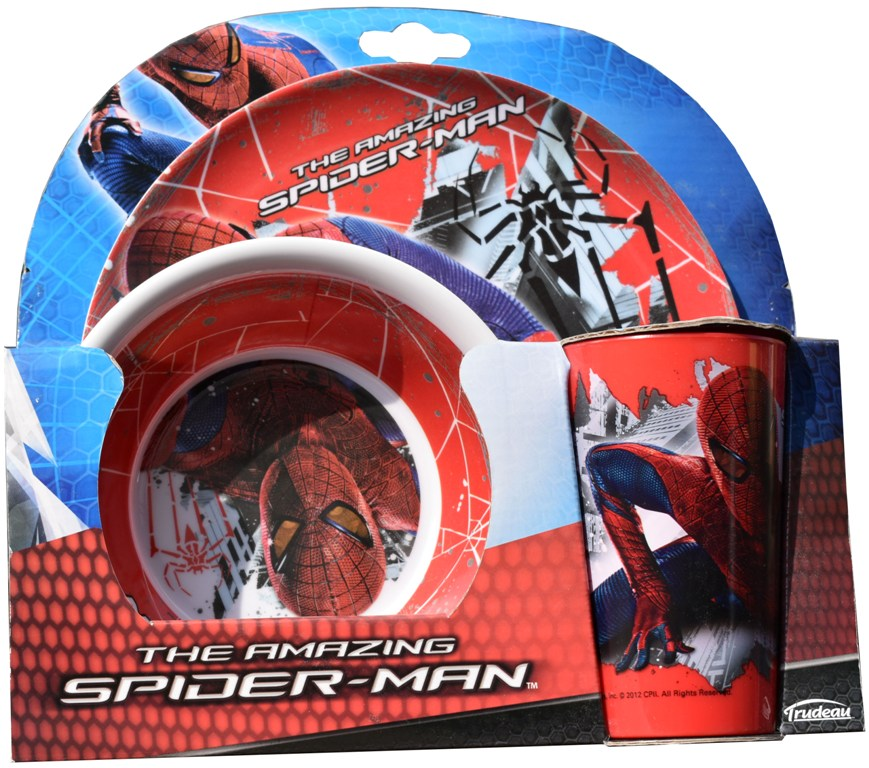 Set Disney 3 piese melamina Spiderman amazing,Trudeau