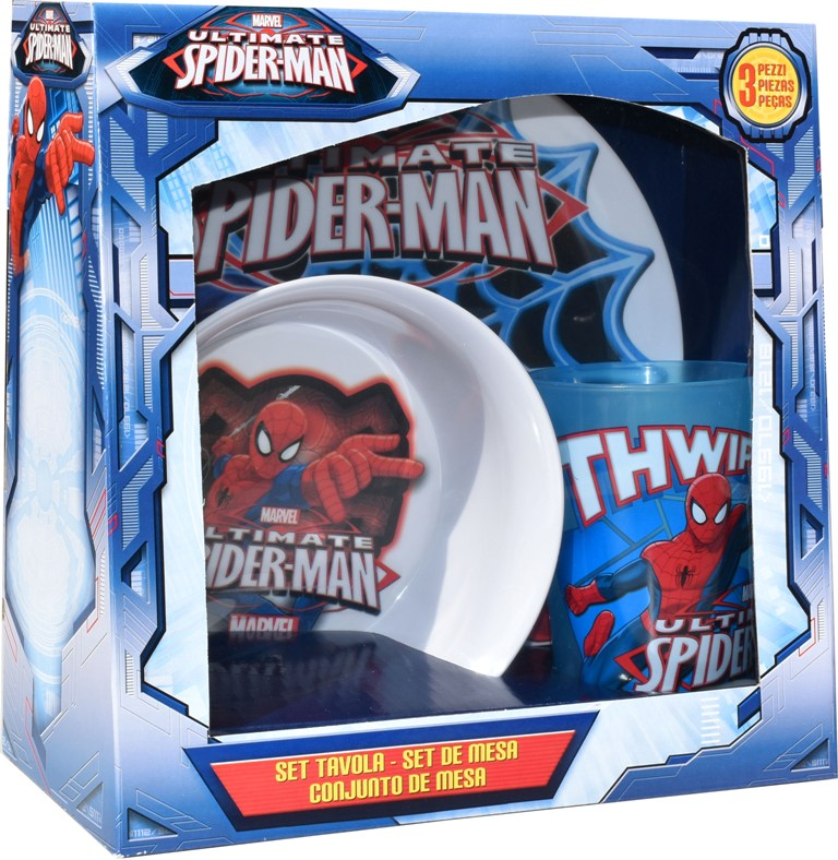 Set Disney 3 piese melamina Spiderman,Gabbiano