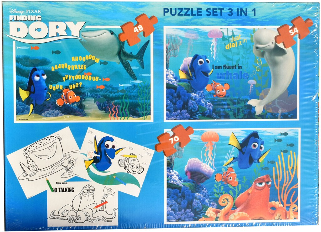 Set puzzle 3 in 1 Disney Finding Dory 22x32cm