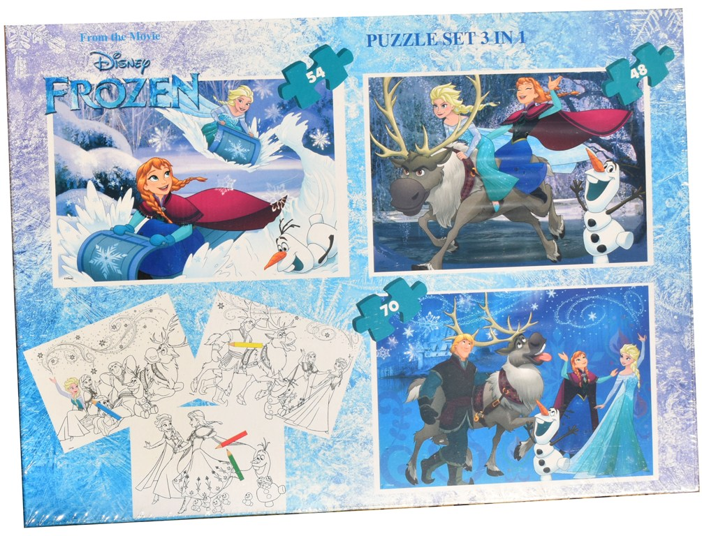 Set puzzle 3 in 1 Disney Frozen 22x32cm