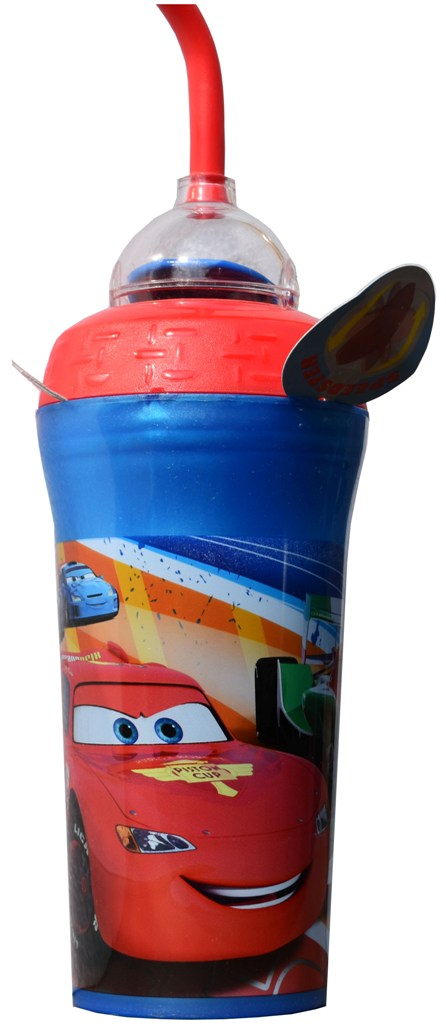 Pahar Disney Cars cu pai 350ml melamina